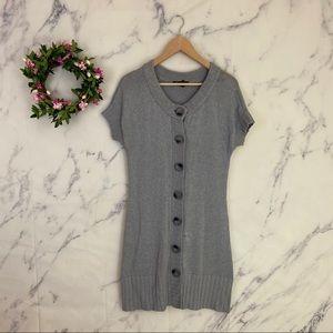 INC International Concepts Button Up Sweater Dress